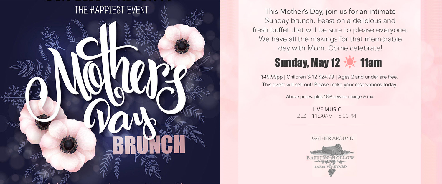 Join Us for Mother's Day Brunch
